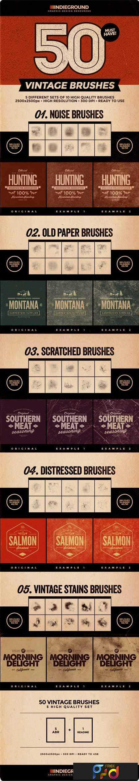 1708186 50 Vintage Brushes Set 8146217 1