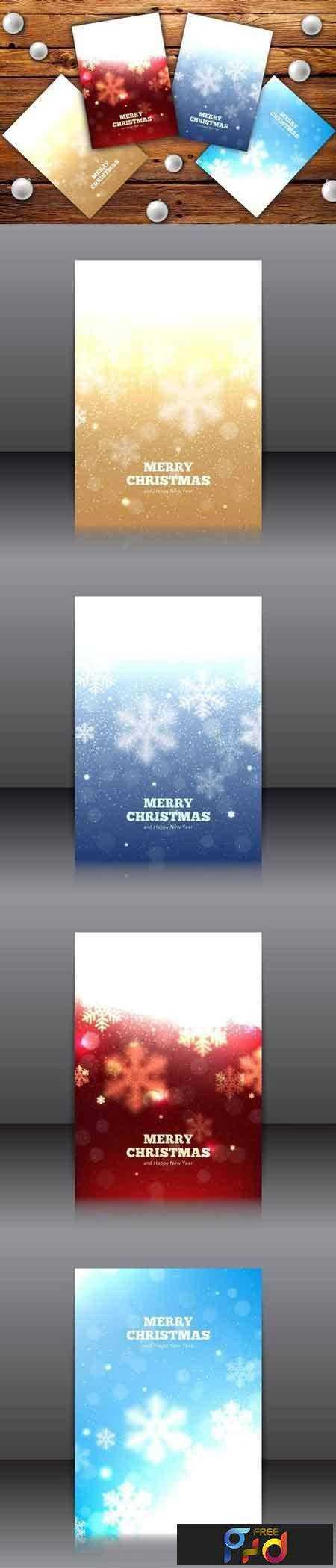 1708202 Set of elegant Christmas flyers 374779 1