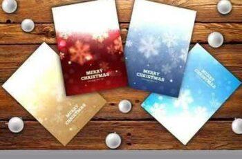 1708202 Set of elegant Christmas flyers 374779 5