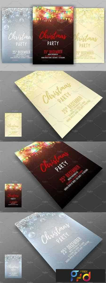 1708203 Set of Christmas party flyes 986959 1