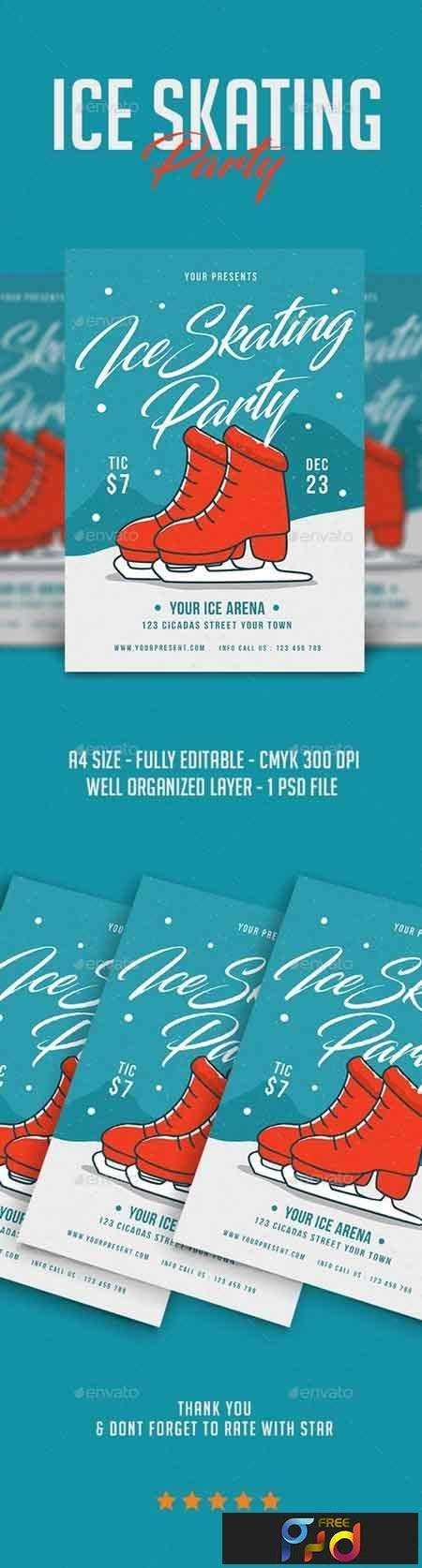 1708207 Ice Skating Party Flyer 21087919 1