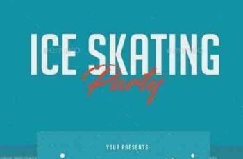 1708207 Ice Skating Party Flyer 21087919