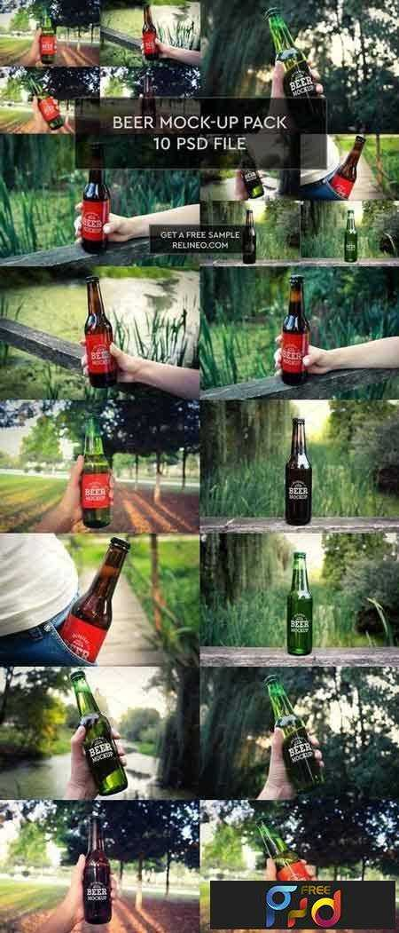 1708228 Beer Bottle 10 PSD Pack 1924645 1