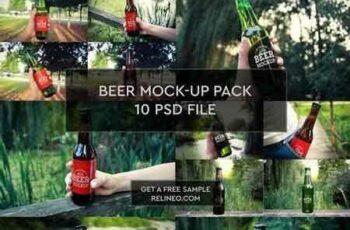 1708228 Beer Bottle 10 PSD Pack 1924645 5