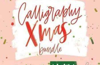 1708232 Christmas Calligraphy Bundle 2029369 2