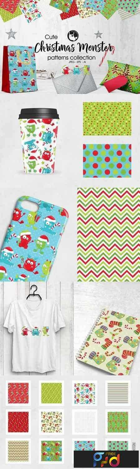 1708247 CHRISTMAS MONSTER Pattern collection 2018392 1
