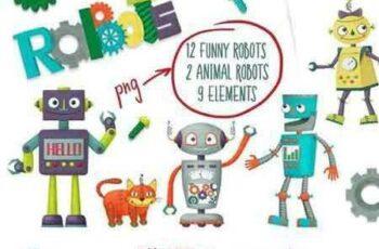 1708266 Set of cartoon robots 2072226 4