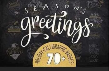 1708273 Christmas Calligraphic Badge Pack 2076792 6