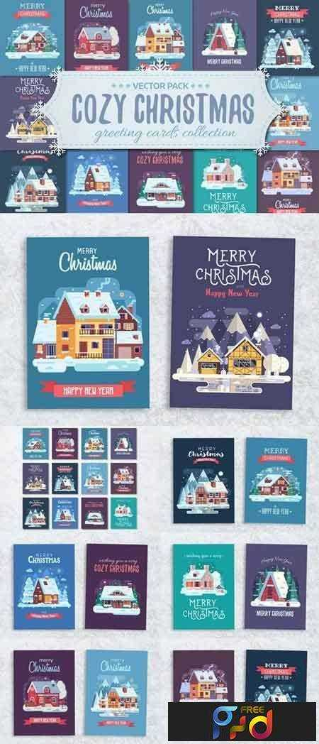 1708283 Cozy Winter House Christmas Cards 2077296 1