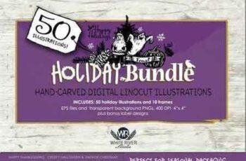 1708284 Holiday Bundle Linocuts 2079087 2