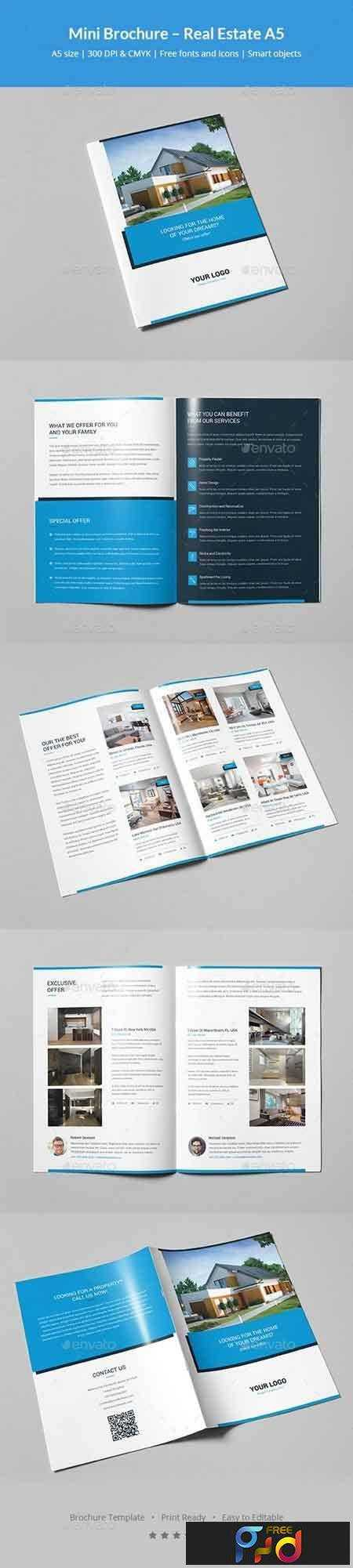 1708287 mini brochure real estate a5 21090680 freepsdvn for Mini brochure template