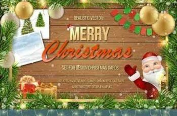 1708291 Set for Merry Christmas cards 2028324 2