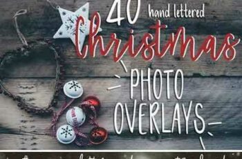 1709017 Christmas Photo Overlays + Free Font 2066108 6