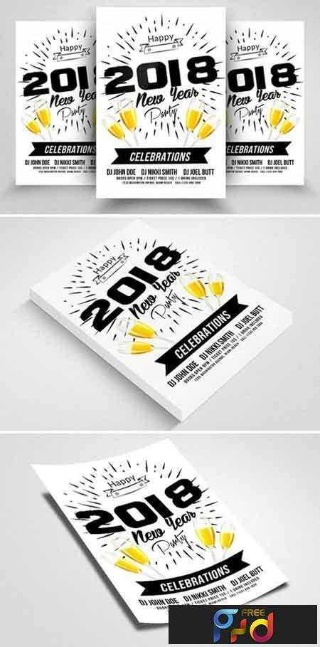 1709024 Happy New Year Flyer 2088229 • FreePSDvn