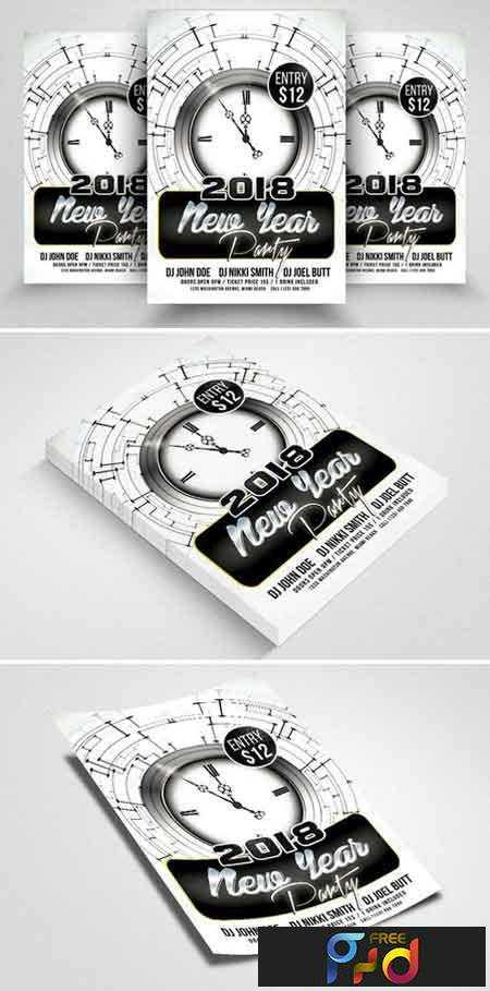 1709026 happy new year psd flyer templates 2088180 photoshop psd print dimensions 46 17 mb