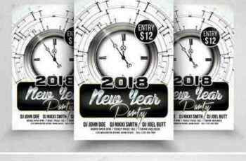1709026 Happy New Year Psd Flyer Templates 2088180 5