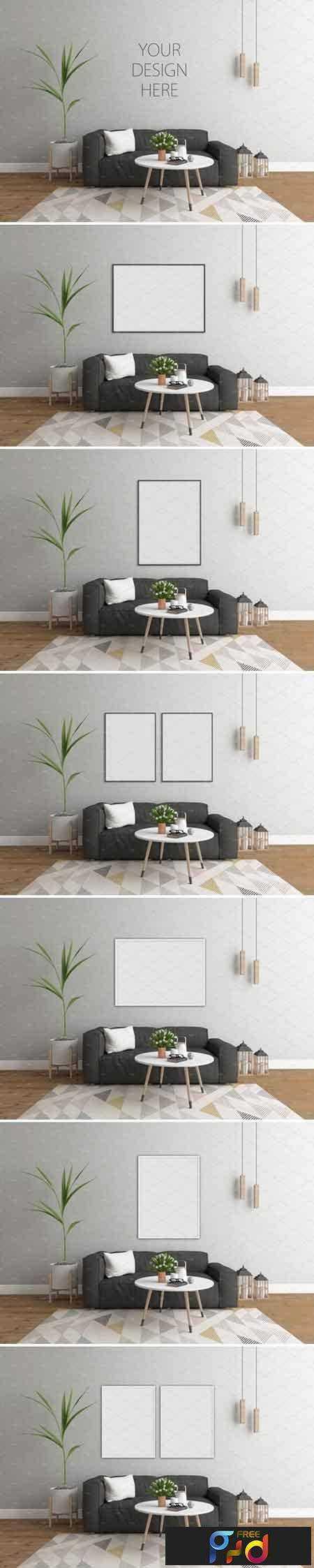 1709029 Interior mockup - scandinavian room 2072172 1