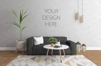 1709029 Interior mockup - scandinavian room 2072172 8