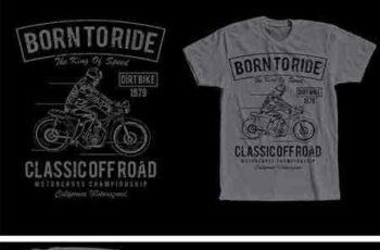 1709042 Born To Ride T-Shirt Design 2068327