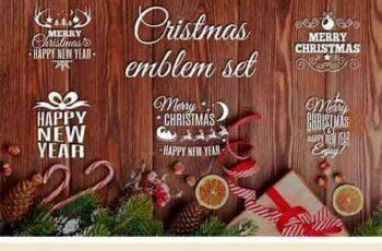 1709046 Christmas Emblem Set 2107965