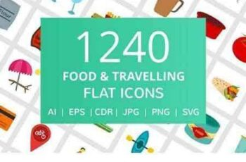 1709053 1240 Food & Travelling Flat Icons 2056302 7
