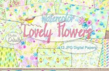 1709064 Lovely Flowers - Watercolor patterns 2070428 4