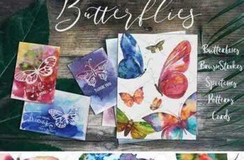 1709099 Butterflies Watercolor Set 2083869 5