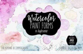 1709103 Watercolor Paint Forms Blobs & Edges 2087038 4