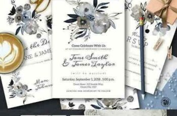 1709109 Grey Wedding Invitation Set 1141214