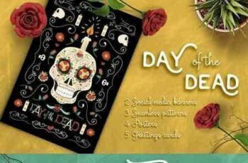 1709110 Hand Drawn Day of the Dead Set 1916557 2