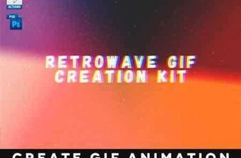 1709121 Retrowave Gif Creation Action 16183978 8