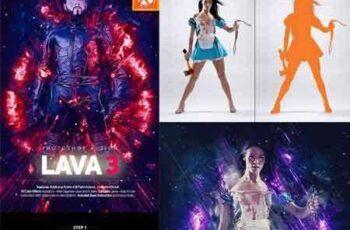 1709134 Lava 3 Photoshop Action 16149297 2