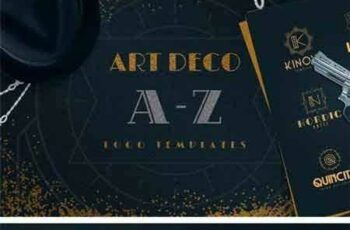 1709177 Art Deco A-Z Logo Templates 2112845 6