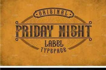 1709180 Friday Night Vintage Label Typeface 2148414