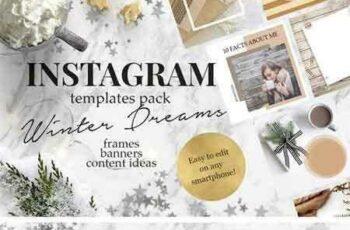 1709189 Winter Hygge Instagram Templates 2132445 8