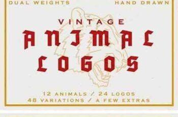 1709195 24 Vintage Animal Logos 2132308 3