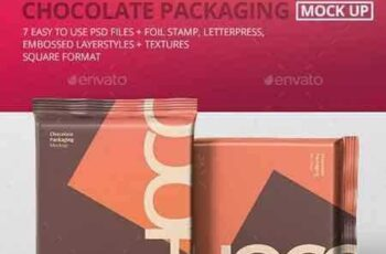 1709205 Foil Chocolate Packaging Mockup - Square Size 21180593 2