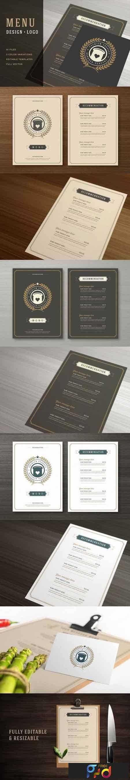 1709215 Restaurant Menu with Logo Design 1456118 1