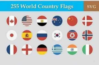 1709218 255 Flat & Vector Circular Flag 275434 4