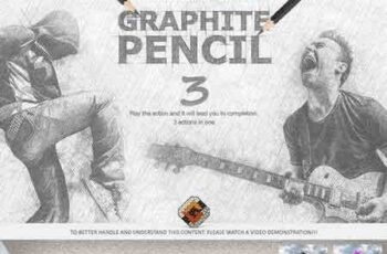 1709223 Graphite Pencil 3 Photoshop Actions 1858307 2