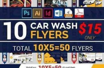 1709244 10 Car Wash Flyers Bundle 1931127 4