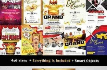 1709245 10 Grand Opening Flyer Bundle Vol 02 1826125