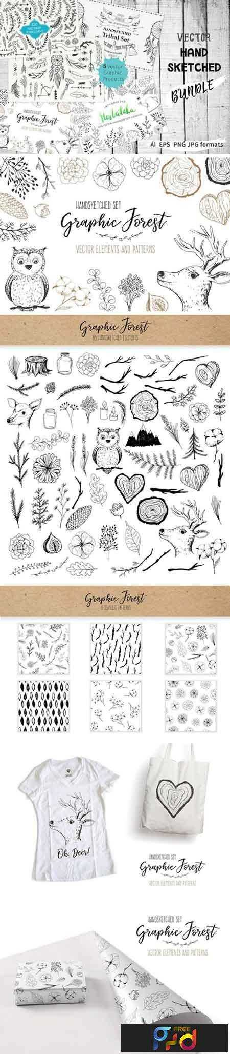 1709260 Vector Hand Sketched BUNDLE 2069738 1