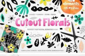 1709270 426 Cutout Floral Elements PNG, EPS 2076425 7