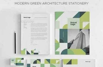 1709288 Modern Green Architecture Stationery 21226713 3