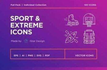 1709290 Sport & Extreme Icons Set 2063539 4