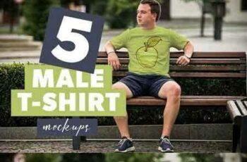 1709293 5 Male T-shirt Mockups 1788151
