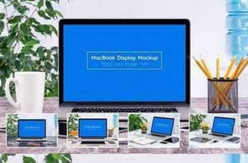 1801008 5 Workplace MacBook Display Mockups 1899007 5