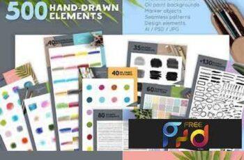1801026 Watercolor Design Elements Collection 1901331 6