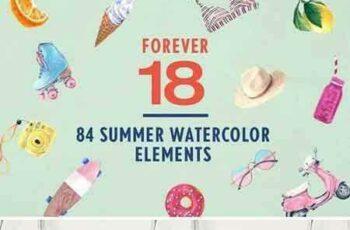 1801044 Forever 18 Summer Watercolor Bundle 2103229 3